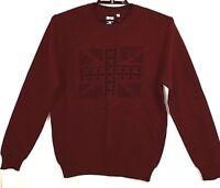 BEN SHERMAN Sweater XL Wine Burgandy Long Sleeves Union Jack Flag Gift  NEW #843