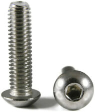 """Stainless Steel Button Socket Head Screw - #2-56 x 3/16"""" QTY 250"""