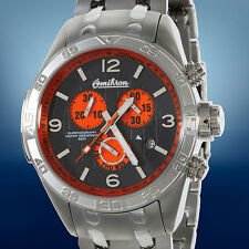 NEW OMIKRON SWISS MENS CHRONOGRAPH STAINLESS STEEL WATCH $1999 RRP