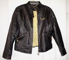 Baby Phat Black Leather Motorcycle Style Jacket Jr Large Great Condition!!