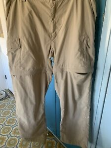 The North Face CONVERTIBLE Outdoor CARGO Pants Womens Size XL Tan  Zip Off Leg