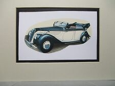 1939 BMW 335 Germany    Auto Museum Full color artist Illustrated