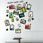 Picture Photo Frame Set Sticker Wall Decal Decor Home Room Office Art DIY Black