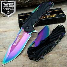 "8"" TAC FORCE RAINBOW SPRING ASSISTED Folding Pocket Tactical Knife"