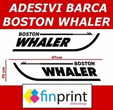 Coppia adesivi imbarcazione Boston Whaler gommone barca stickers