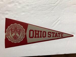 OHIO  STATE  UNIVERSITY -1940/50s COLLEGE decal STICKER pennant/ RARE
