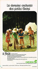 PUBLICITE ADVERTISING 045  1973  OZONA   vetements d'été  enfants