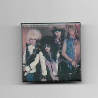 POISON VINTAGE SQUARE PIN BRET MICHAELS RIKKI ROCKET CC DEVILLE BOBBY GLAM METAL
