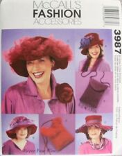 2003 Ladies Red Hats Purse Sewing Pattern McCall's 3987 New OOP
