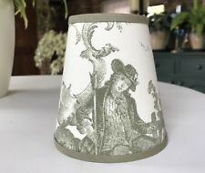 Busby Toile  - Small Handmade Candle Clip Lampshade for Wall Lights/Chandeliers
