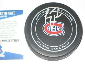 CAREY PRICE Signed Montreal CANADIENS Official GAME Puck + Beckett COA