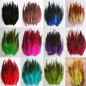 50Pcs Fluffy Rooster Tail Feathers For DIY Craft/Dress/Carnival Party Decoration