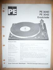Liste Pièces Détachées pour Dual Pe 3040/3042 Système Hi-Fi, Original