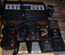 Atari 2600 6-Button Woodgrain Sears Ed. w/2Controllers, Paddles, 7Games, TESTED!