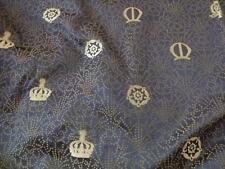 Designers Guild Ralph Lauren silk satin goldenmidnight blue fabric 138cm x 122cm