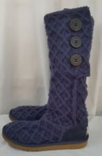 UGG sweater purplish blue womens boots SZ 6