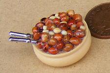 1:12 scala ciotola di frutta a guscio & NUT Cracker Bambole in Miniatura Casa Di Cibo Snack Accessorio