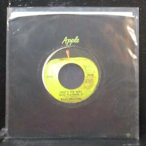"""Billy Preston - That's The Way God Planned It 7"""" VG+ Apple 1808 USA 1969"""