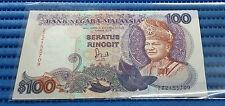 Malaysia $100 Seratus Ringgit Note ZZ2155709 TDLR Jaffar Hussein Currency