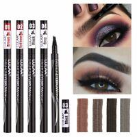 Microblading Eyebrow Marker Pen 4 Head Liquid Eyebrow Thin Pencil Waterproof HOT