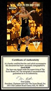 Jason Kidd 1994 Score Board National Convention Auto Autograph Card Draft Stars