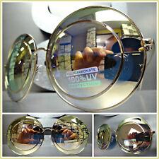 OVERSIZE VINTAGE RETRO Style SUNGLASSES Unique Funky Large Round Rose Gold Frame