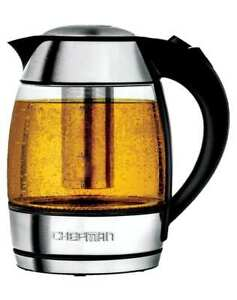 Chefman 1.8 Liter Electric Glass Kettle With Removable Tea Infuser