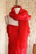jolie Robe longue rouge neuve taille 5 avec écharpes marque NOUVEAU KELLY (d)