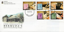 Bermuda 2015 FDC Queen Victoria Postage Stamps 150th Anniv 5v Set Cover