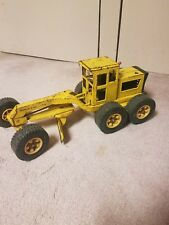 Vintage 1970s Tonka Road Grader Working Mechanical Pressed Steel Construction