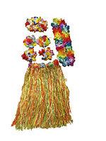 6pc Adult Hawaiian Dress Up Tropical  Hula Costume Luau Lei  Flower Party Fancy