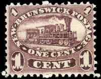 New Brunswick #6 mint F-VF NG 1860 Cents Issue 1c red lilac Locomotive CV$40.00