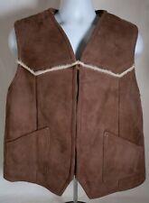 Vintage Matterhorn Napa California men's Medium suede vest Size 44