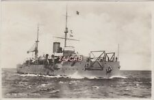 "Royal Netherlands Navy Real Photo. HNLMS ""Hertog Hendrik"" Coastal Defence. 1930"