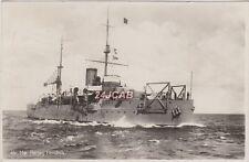 "Royal Netherlands Navy Real Photo. HNLMS ""Hertog Hendrik"" Coastal Defence. 1930"