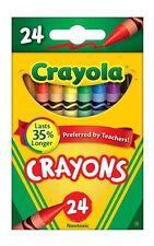 Crayola Crayons 24 Box (Pack of 2) Kids Arts Craft Supplies Halloween Art