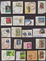 NSW page of decimal era postmarks on piece all start with J
