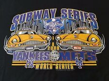 NEW YORK YANKEES METS 2000 SUBWAY SERIES T SHIRT NYC TAXI MLB BASEBALL
