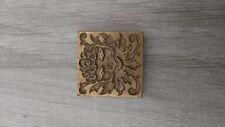 fer à dorer  laiton plaque à dorer reliure vieux livres  cadre décoration