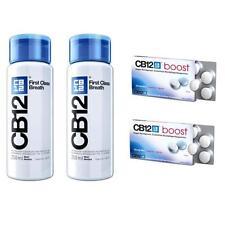 CB12 Spüllösung 2x250ml und CB12 boost Kaugummi 2x10St gegen Mundgeruch ANGEBOT