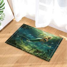 Door Mat Bathroom Rug Bedroom Carpet Bath Mats Rug Mermaid and treasure chest