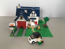 LEGO Creator 3 in 1 Apple Tree House (5891) Complete +  LEGO City Small Car 3177