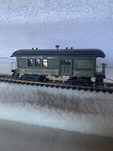 VINTAGE Ulrich HO Sierra Railway Old Time Coach Car Kit, Metal & Wood, Caboose