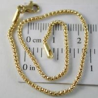 Armband Gelbgold Oder Weiß 750 18K Korb, Mini 2 MM, 19 CM, Made IN Italien
