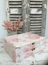 ~Enchanting Vintage French Fabric Covered Storage Chest~