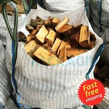 More details for vented firewood log bulk bags 90 x 90 x 90cm ventilated woven wpp sack 500kgs