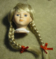 "3 1//4/"" Nicki Doll Head Red Hair"