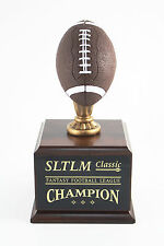 6 Year Color Football Fantasy Football Trophy - Free Engraving! Ships In 1 Day!
