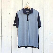 Adidas Mens Climachill Black Gray Stripe Polo Shirt Short Sleeve Size Large L