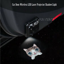 2x Lovely Cat Logo Car Door Wireless LED Ghost Laser Projector Shadow Light